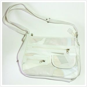 Handbags - White Patchwork leather purse bag lambskin artsy